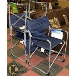 3 ALUMINUM FOLDING CHAIRS
