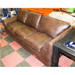 "PARTIAL RUSTIC BROWN 90"" WIDE SECTIONAL - AS IS"