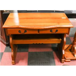 "PINE WRITING DESK, 37.5""X18""X29.5"". FURNITURE"