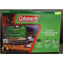 NEW COLEMAN 3 BURNER STOVE