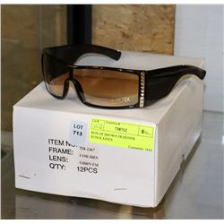 BOX OF BROWN DESIGNER STYLE SUNGLASSES