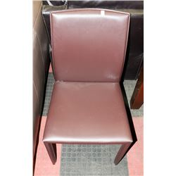 BROWN LEATHERETTE SIDECHAIR