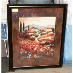 FRAMED COUNTRY SCENE PICTURE