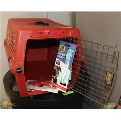 MEDIUM PET CARRIER WITH COLLAR AND DENTAL CHEW