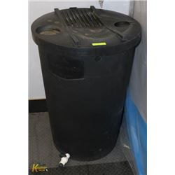 H/D RAIN BARREL 45 GAL WITH SCREEN LID AND FAUCET