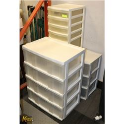 "LOT OF 3 STORAGE BIN DRAWERS, 33""H X 17""D X 48"""