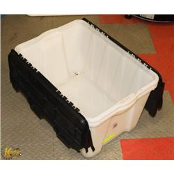2 LARGE STORAGE TUBS