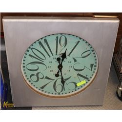 LARGE WALL CLOCK 28 X 28