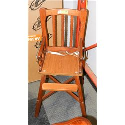 WOOD HIGHCHAIR AS IS
