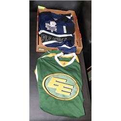 TORONTO MAPLE LEAFS SIZE S AND EDMONTON ESKIMOS
