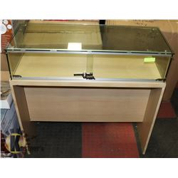 "LOCKING JEWELLERY CABINET 39""X15.5""X8.5"" WITH KEY,"