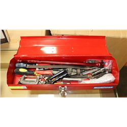 SMALL MASTERCRAFT CARRY TOOL BOX WITH CONTENTS