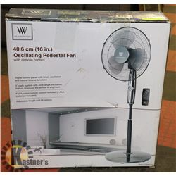 "16"" OSCILLATING PEDESTAL FAN WITH REMOTE"