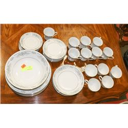 43PC BANBURY PORCELAIN CHINA SET.