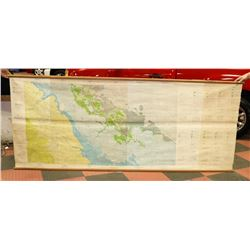 VINTAGE UNIVERSITY OF ALBERTA GEOLOGICAL MAP OF