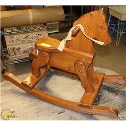 KIDS WOODEN ROCKING HORSE.