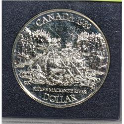 1989 CANADA MACKENZIE RIVER SILVER DOLLAR