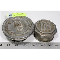 2 ANTIQUE DODGE BROTHERS GREASE CUPS
