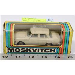 MOSKVITVH DIE CAST MADE IN RUSSIA, IN ORIGINAL BOX
