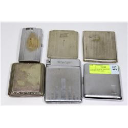 COLLECTION OF VINTAGE CIGARETTE CASES