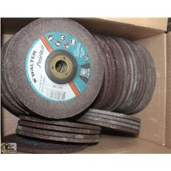 "LOT OF 50- 1/4"" X 7 STAINLESS STEEL GRINDING DISCS"