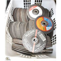 "LOT OF 100- 1/4"" X 7 STAINLESS STEEL GRINDING DISC"