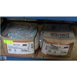 2 BOXES OF 10 X 1/2 SCREWS
