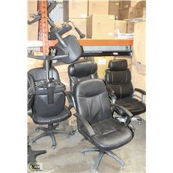 LOT OF 6 HYDRAULIC LIFT OFFICE CHAIRS - AS IS