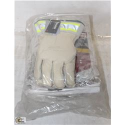 BUNDLE OF 6 PAIRS DELUXE LINEMAN LEATHER GLOVES