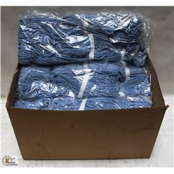 CASE OF SIZE SMALL BLUE MOP HEADS - ON CHOICE