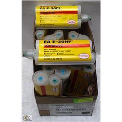 2 BOXES OF LOCTITE EA E-HP,  EA E-HE CL ADHESIVE