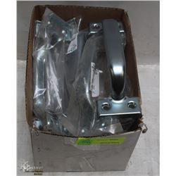 BOX OF HEAVY DUTY METAL DOOR HANDLES