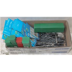 BOX OF ASSORTED DRILL BITS - ON CHOICE