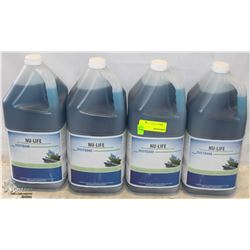 FOUR 5L CONTAINERS OF NU-LIFE SOAP FILM REMOVER