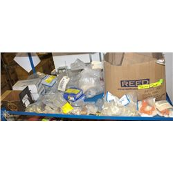 CONTENTS OF SHELF: INCL FITTINGS, WASHERS,
