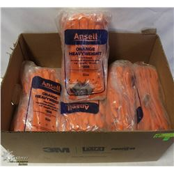 """APPROX 8 BUNDLES OF ANSELL ORANGE 13"""" SIZE 7"""