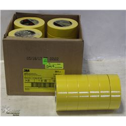 CASE WITH 24 ROLLS OF YELLOW MASKING TAPE - ON
