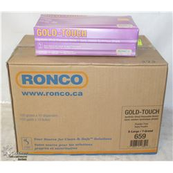 CASE OF RANCO XL SYNTHETIC DISPOSABLE GLOVES