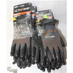 11 PAIRS OF ANSELL ACTIVARMR SIZE 8 GLOVES