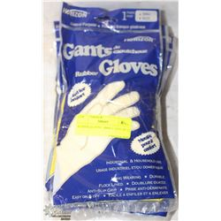 RUBBER GLOVES   SMALL  LOT OF 12