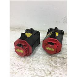 (2) Fanuc A06B-0235-B605 Servo Motor w/ A860-2010-T341 & A860-2014-7301 PulseCoders **see pics**
