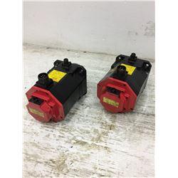 (2) Fanuc A06B-0235-B605 Servo Motor w/ A860-2014-T301 PulseCoders