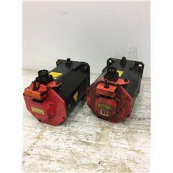 (2) Fanuc A06B-0267-B605 Servo Motor w/ A860-2014-T301 PulseCoders