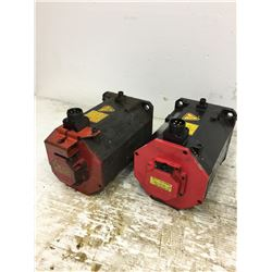 (2) Fanuc A06B-0267-B605 Servo Motor w/ A860-2010-T341 & A860-2014-T301 PulseCoders