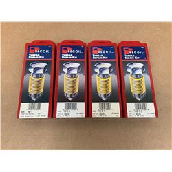 Lot of 4 Recoil Incomplete Thread Repair Kits *See Pics for sizes and details*