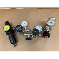 Lot of 4 Pressure Regulators *See Pics for Part Numbers and Descriptions*