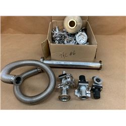 Lot of Vacuum Valves, Plugs and Clamps *See Pics for Part Number and Description*