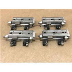 (4) SMC MXQ8-40C SLIDE TABLE CYLINDER