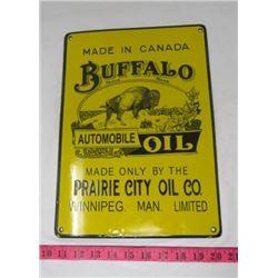 BUFFALO OIL SIGN (PORCELAIN) *REPRODUCTION*