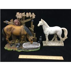 LOT OF 2 HORSE FIGURINES